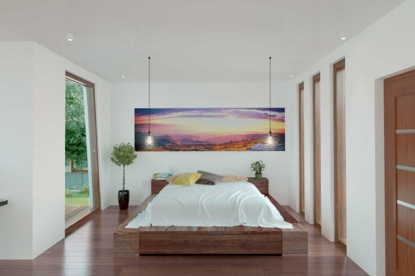 bedroom in the passive house is healthy and comgz