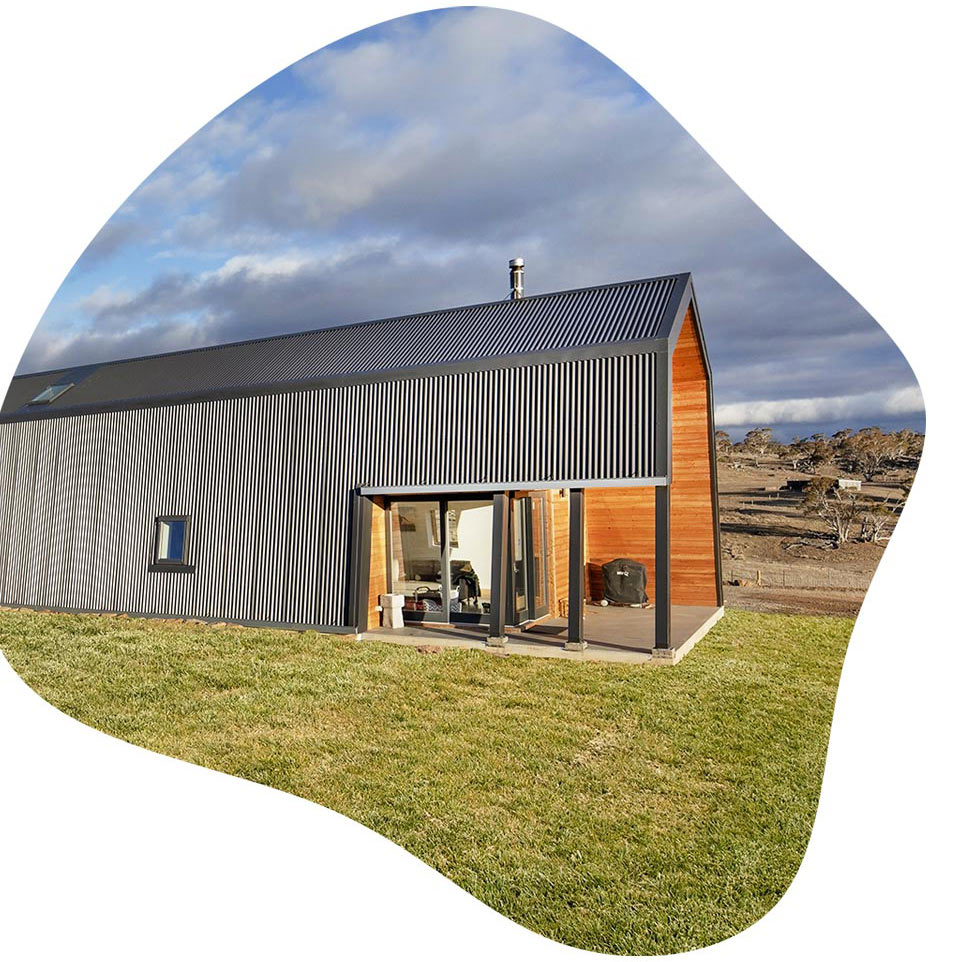 Modern energy-efficient home using passive solar and passive house benefits to lower utility bills of its satisfied owners